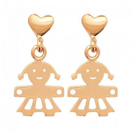 Just Gold Earrings -9Ct Earring Studs Girl, ES331